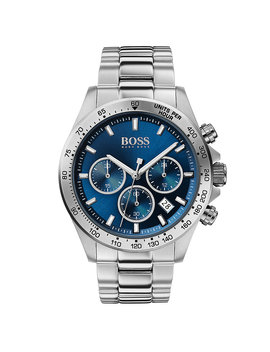 Stainless Steel Chronograph Watch With Blue Dial Stainless Steel Chronograph Watch With Blue Dial by Boss
