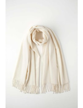 White Classic Cashmere Stole by Johnstons Of Elgin