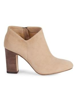 Neves Suede Stacked Heel Ankle Boots by Splendid