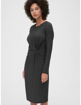 Metallic Stripe Twist Knot Midi Dress by Gap