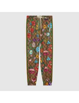 Gg Flora Print Track Bottoms by Gucci