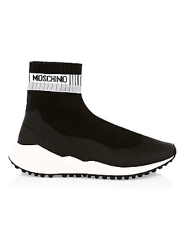 Neoprene Stamp Sock Sneakers by Moschino