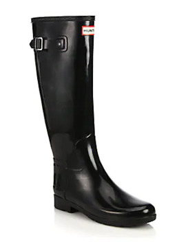 Women's Refined Tall Gloss Rain Boots by Hunter