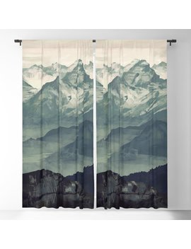 Mountain Fog Blackout Curtain by Society6