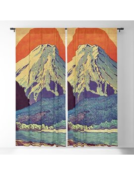 The Red Sunrise At Dayai Shore Blackout Curtain by Society6