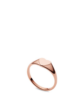 Be Mine Rose Gold Tone Stainless Steel Signet Ring by Fossil