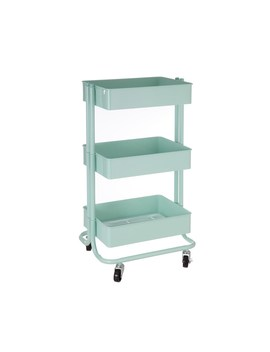 Mint Lexington 3 Tier Rolling Cart By Recollections™ by Recollections