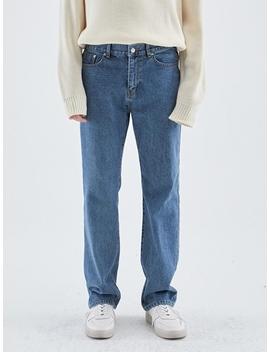 Long Wide Non Span Denim Pants by Loeil