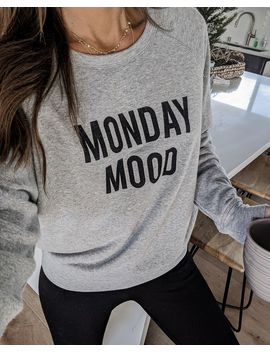 Monday Mood, Friday Feels Reversible Sweatshirt by Vici