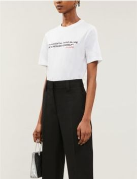 Karlism Slogan Print Cotton Jersey T Shirt by Karl According To Carine