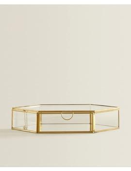 Zeshoekige Glazen Doos  Dozen   Decoratie   Woonkamer by Zara Home