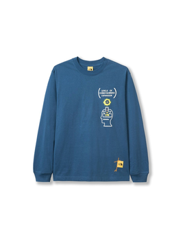 The North Face X Brain Dead Crewneck Blue by Stock X