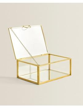 Glazen Doos Met Metalen Profiel  Dozen   Decoratie   Woonkamer by Zara Home