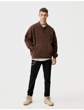 Sweatshirt Met Bomberkraag by Pull & Bear