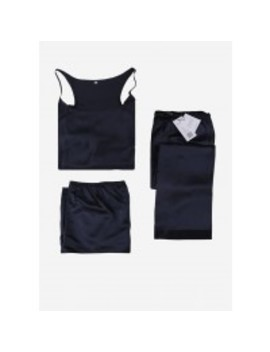 22 Momme Elegant Silk Camisole Set 3pcs by Lily Silk