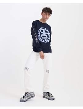 Dp Dance Fleeced Sweatshirt   Navy by Daniel Poole