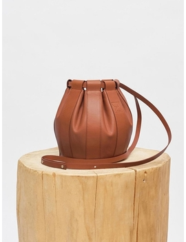 Leather Drawstring Small Bag 4 Colors by Low Classic