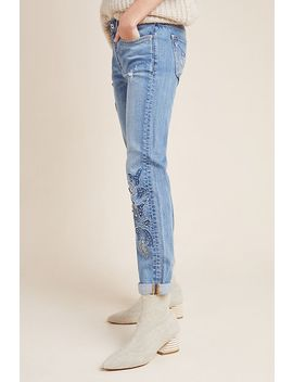 Pilcro High Rise Embroidered Boyfriend Jeans by Pilcro And The Letterpress