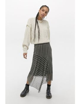 Uo Cable Knit Drop Shoulder Jumper by Urban Outfitters