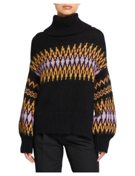 Tracey Intarsia Turtleneck Sweater by A.L.C.