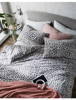 Leopard Cuddle Fleece Duvet Cover Set by Simply Be