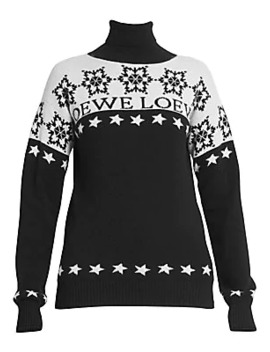 Snowflake Wool Turtleneck Sweater by Loewe