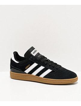 Adidas Busenitz Black, White, &Amp; Gum Shoes by Adidas