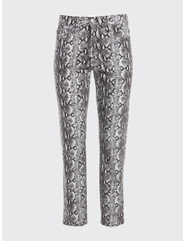 Good High Rise Snake Skin Skinny by Alice And Olivia