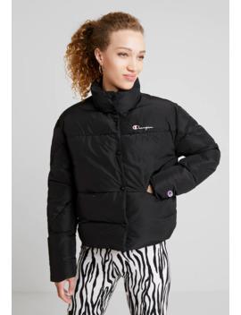 Back Script Puff Jacket   Winter Jacket by Champion Reverse Weave