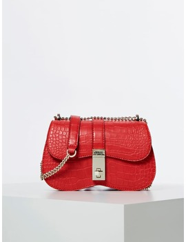 Asher Croc Look Mini Crossbody by Guess