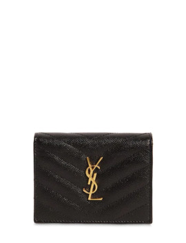 "Portefeuille En Cuir MatelassÉ ""Monogram"" by Saint Laurent"