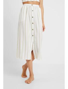 Stripe Button Skirt   Akcesoria Plażowe by Topshop