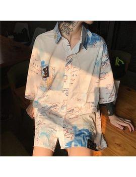 Mello   Printed 3/4 Sleeve Shirt by Mello
