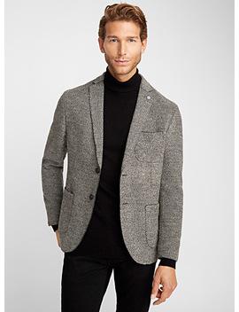 Bouclé Knit Jacket Semi Slim Fit by Selected