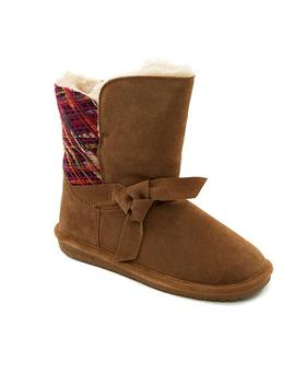 Bearpaw® Geneva Suede Sheepskin Boot With Never Wet™ by Bearpaw