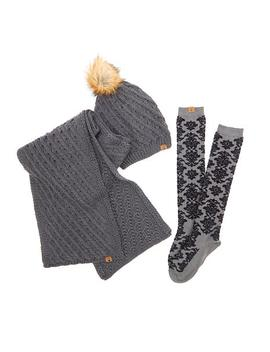 Bearpaw® Hat, Scarf And Sock Gift Set by Bearpaw