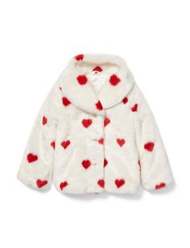 Valentine Faux Fur Jacket by Janie And Jack