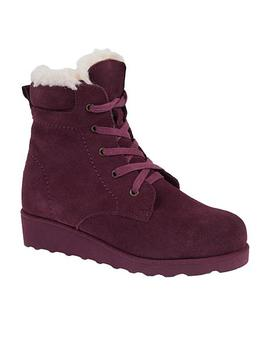 Bearpaw® Phoebe Suede Sheepskin Lace Up Hiker Boot  With Never Wet™ by Bearpaw