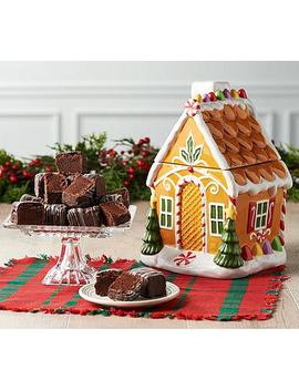 """<Span Class=""""Callout New"""">New!</Span>                   David's Cookies Gingerbread House Cookie Jar With 15 Brownies by David's Cookies"""