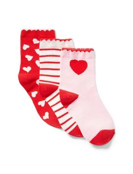 Valentine Sock 3 Pack by Janie And Jack
