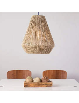 The Curated Nomad Westlake Seagrass 16 Inch Pendant Shade by The Curated Nomad