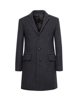 Slim Fit Checked Wool Blend Coat by Club Monaco