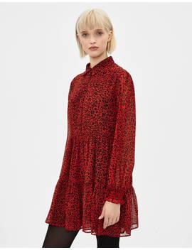 Short Animal Print Dress by Bershka
