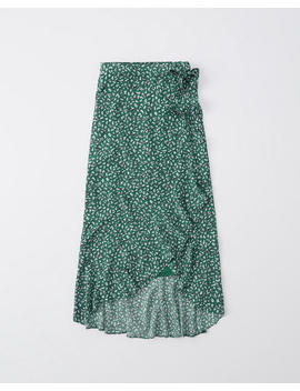 Ruffle Wrap Midi Skirt by Abercrombie & Fitch