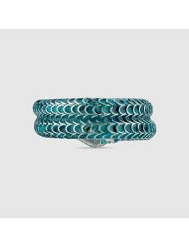 Gucci Garden Enamel Silver Snake Ring by Gucci