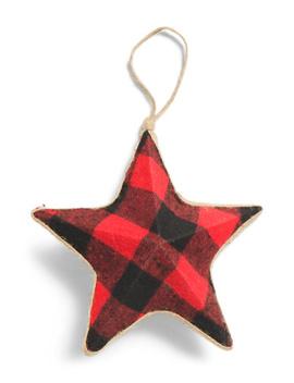 8.5in Buffalo Check Star Ornament by Tj Maxx