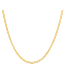Herringbone Chain Necklace by Mejuri