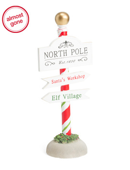36in Resin North Pole Stand by Tj Maxx