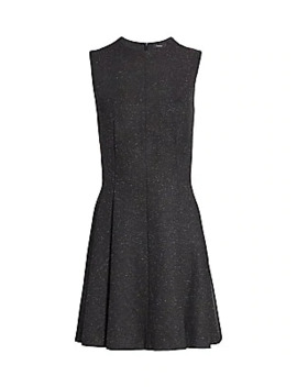 Sleeveless Sparkle Seamed A Line Dress by Theory