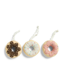 Set Of 3 Boxed Donut Ornaments by Tj Maxx